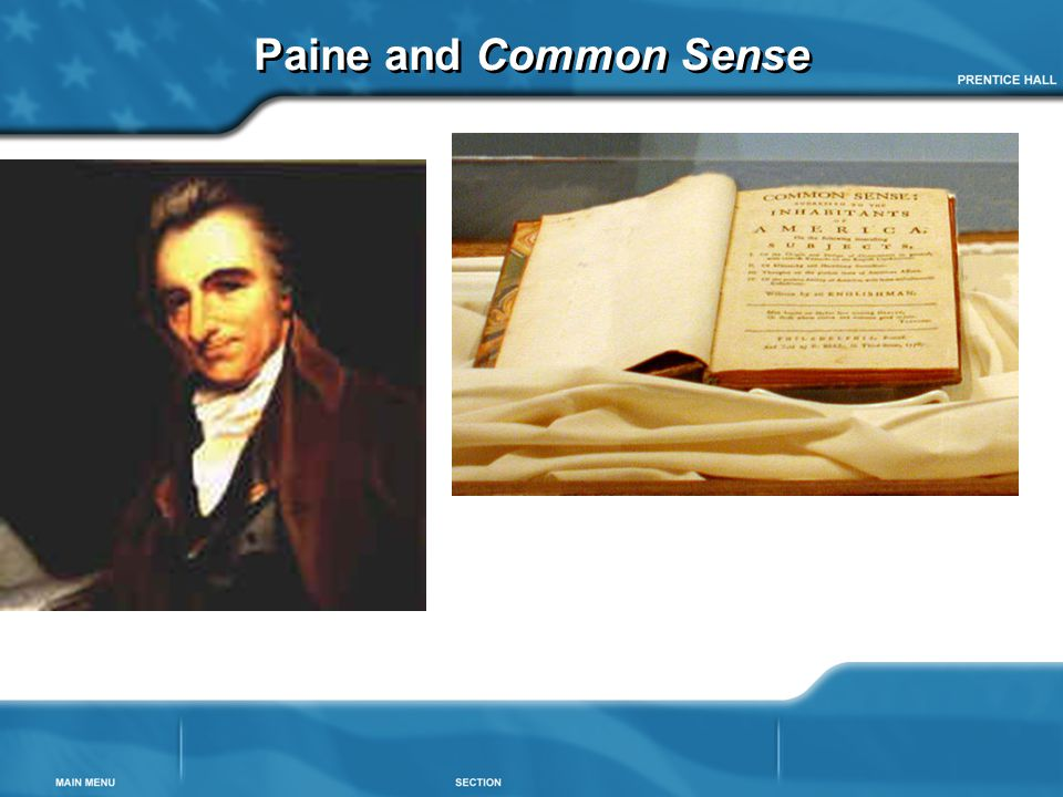 Paine and Common Sense