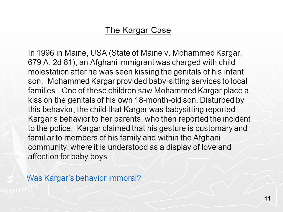 The Kargar Case In 1996 in Maine, USA (State of Maine v.