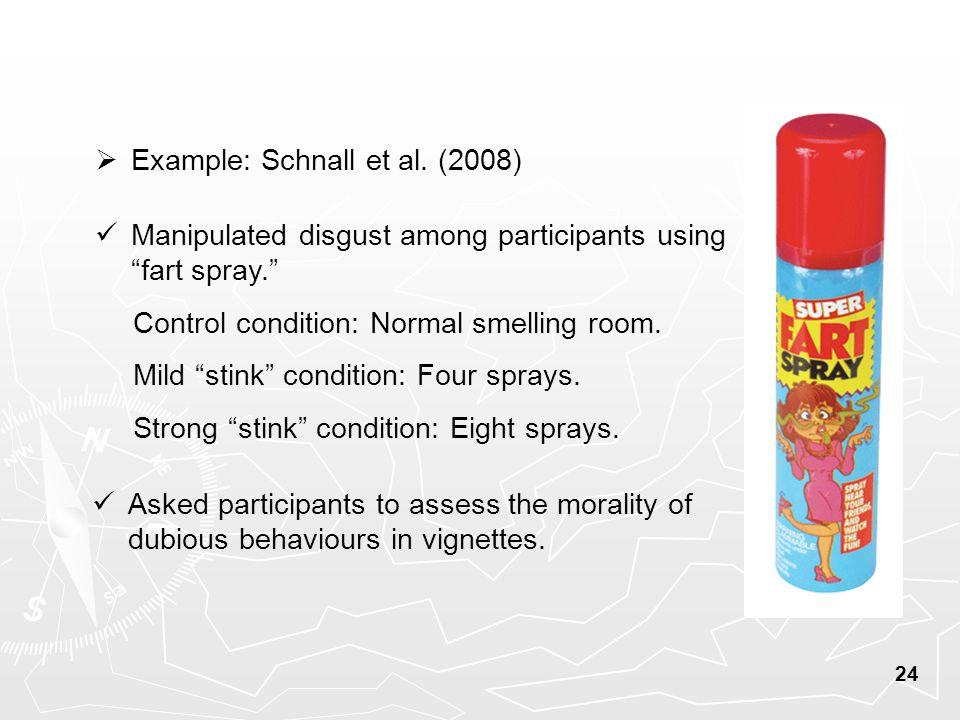 24  Example: Schnall et al.