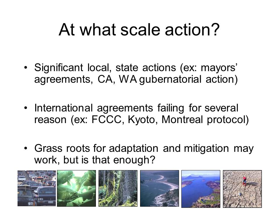 At what scale action.