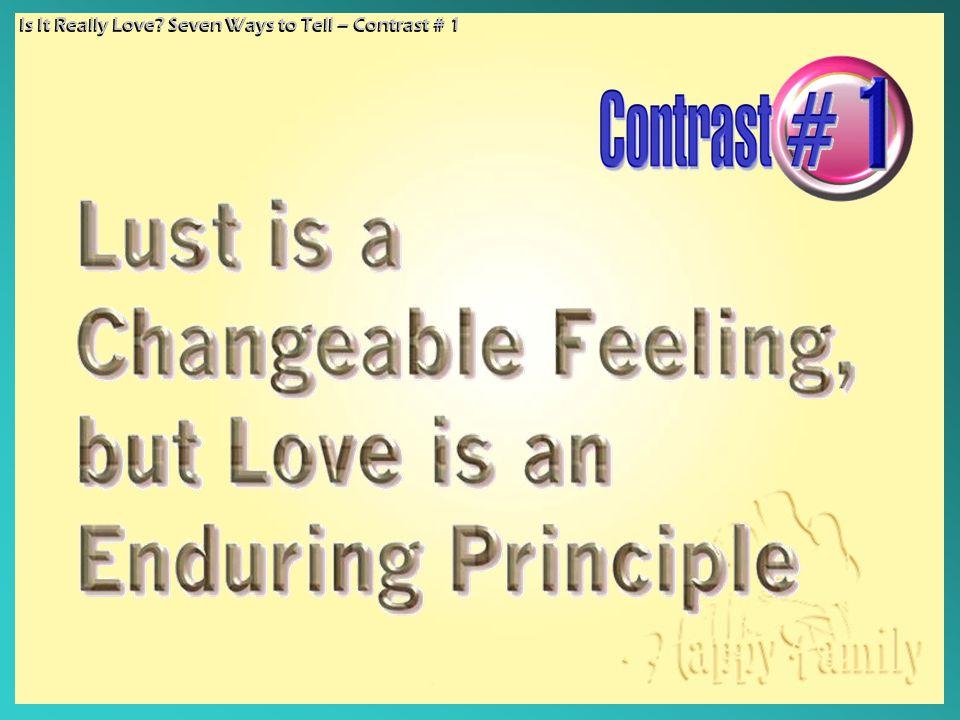 Is It Really Love.
