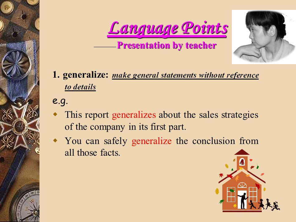 Language Points Presentation by teacher 1.