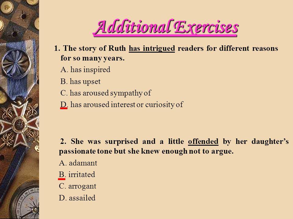 Additional Exercises 1.