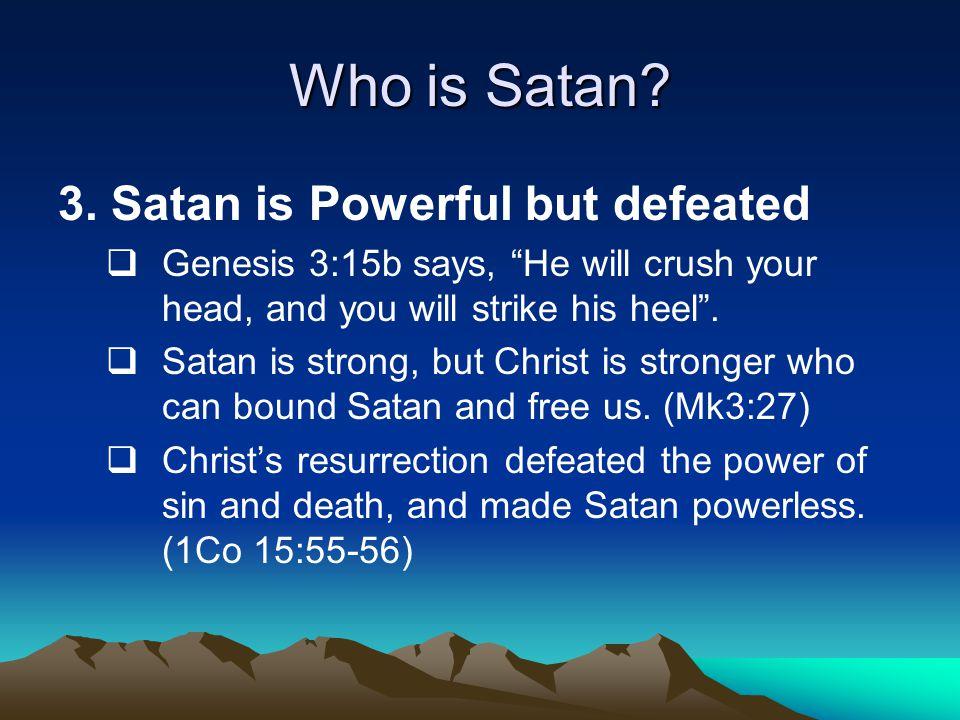 How to overcome Satan.