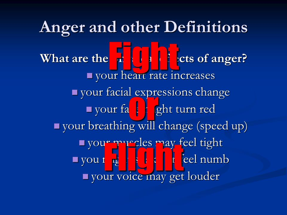Causes of Anger External Frustration Frustration Irritations Irritations Abuse Abuse Unfairness Unfairness Internal Value Judgments Expectations Private Speech Tension/Stress Have You Slept.
