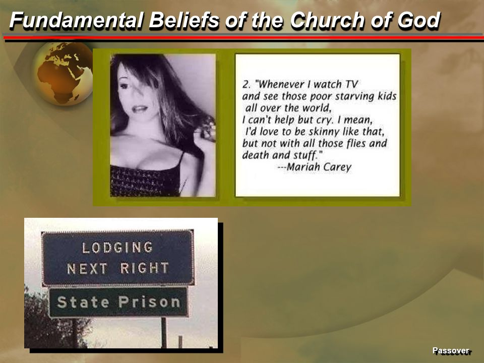 PassoverPassover Fundamental Beliefs of the Church of God
