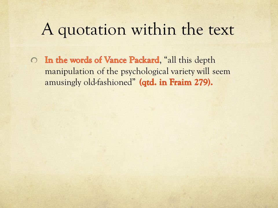 A quotation within the text