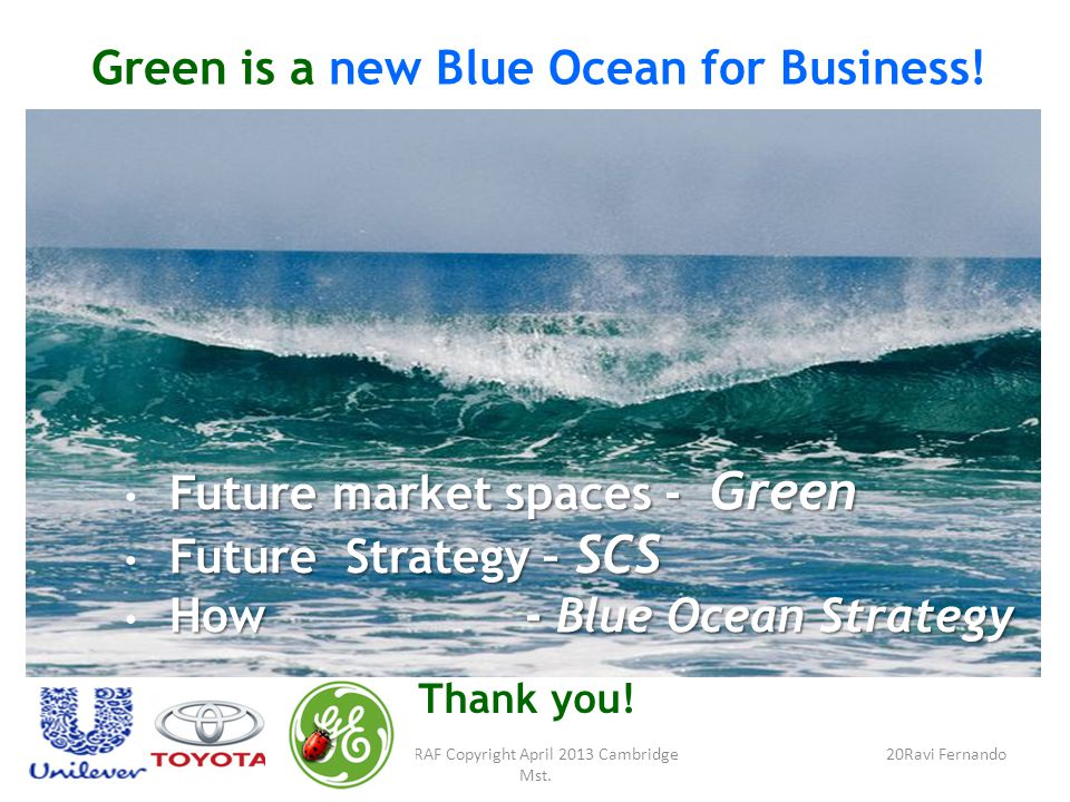 Green is a new Blue Ocean for Business.