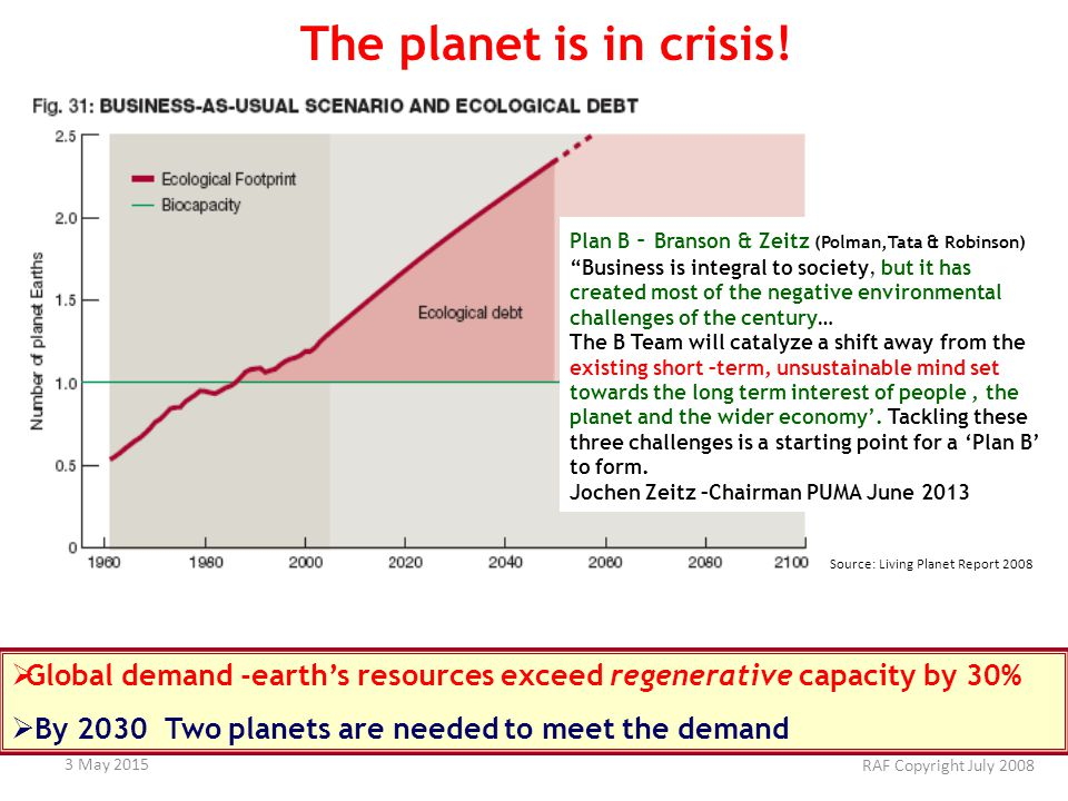 The planet is in crisis.