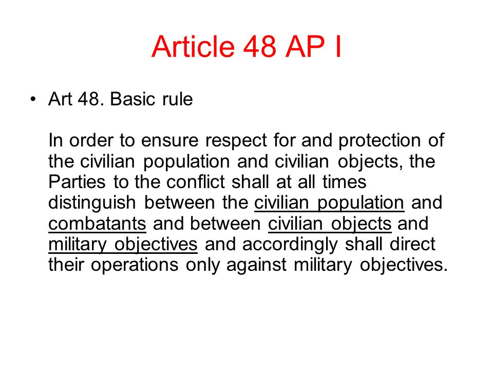 Article 48 AP I Art 48.