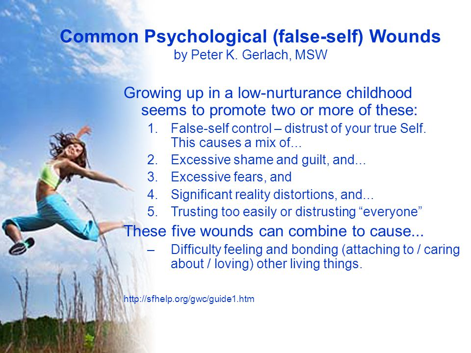 Common Psychological (false-self) Wounds by Peter K.