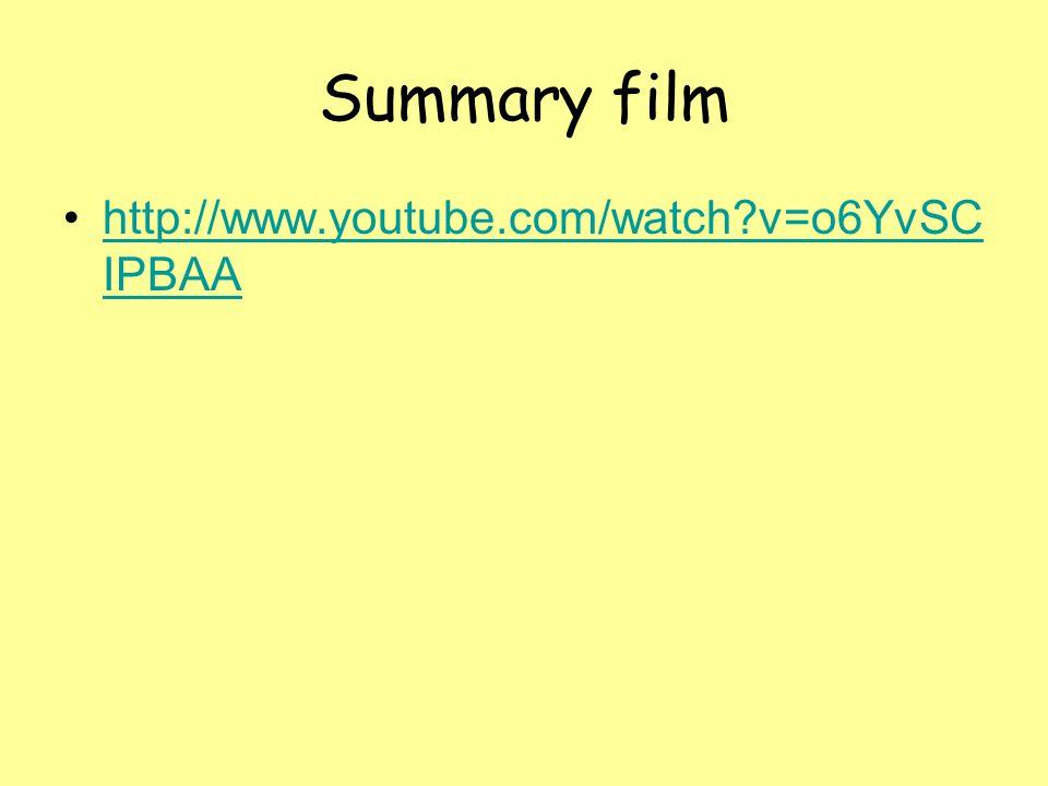Summary film http://www.youtube.com/watch?v=o6YvSC IPBAAhttp://www.youtube.com/watch?v=o6YvSC IPBAA