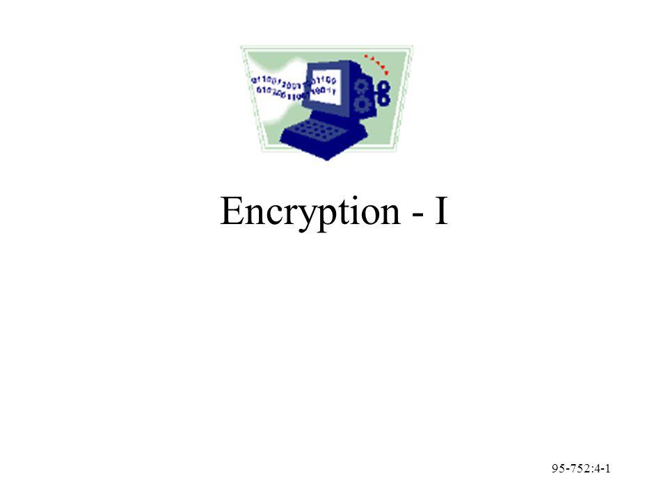 95-752:4-1 Encryption - I