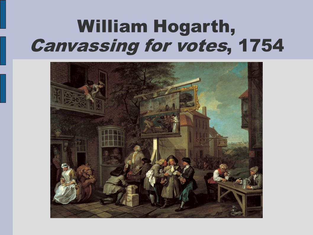William Hogarth, Canvassing for votes, 1754