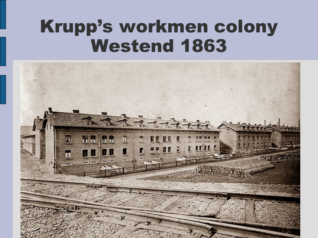 Krupp's workmen colony Westend 1863