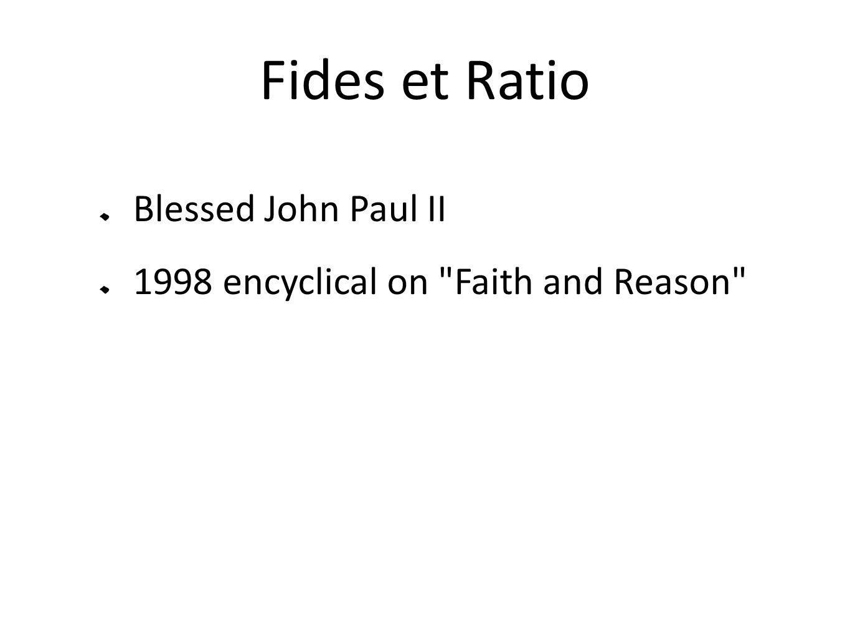 Fides et Ratio Blessed John Paul II 1998 encyclical on