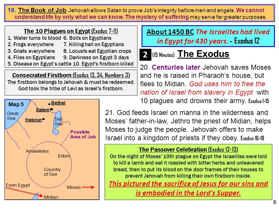 7 The 10 Commandments (Exodus 20) 1.Have no other gods6.