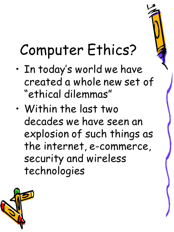 How Do We Apply Ethics Joseph Weizenbaum, computer scientist at MIT wrote of two cultures of the computer age – those who will benefit from the technology and those doing more menial and irrelevant roles Do knowledge and information translate into power?