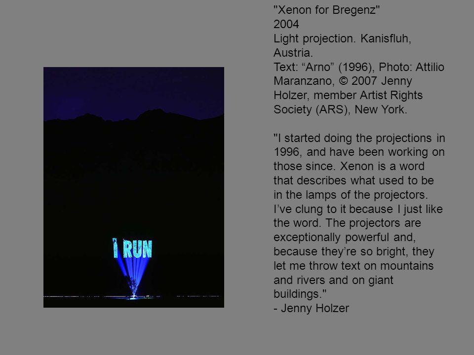 Xenon for Bregenz 2004 Light projection. Kanisfluh, Austria.