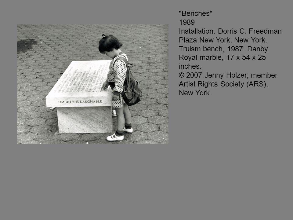 Benches 1989 Installation: Dorris C. Freedman Plaza New York, New York.