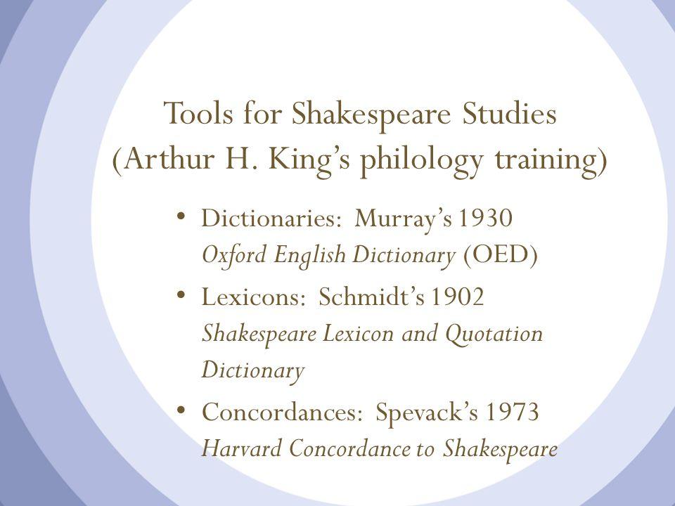 Tools for Shakespeare Studies (Arthur H.
