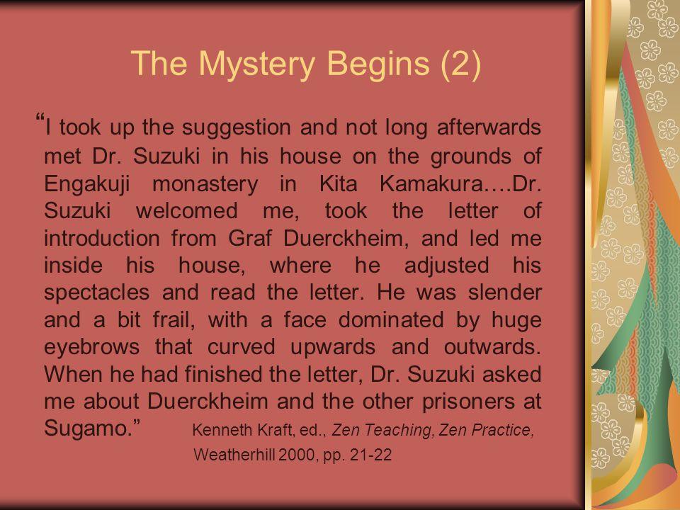 What did Suzuki teach Duerckheim.