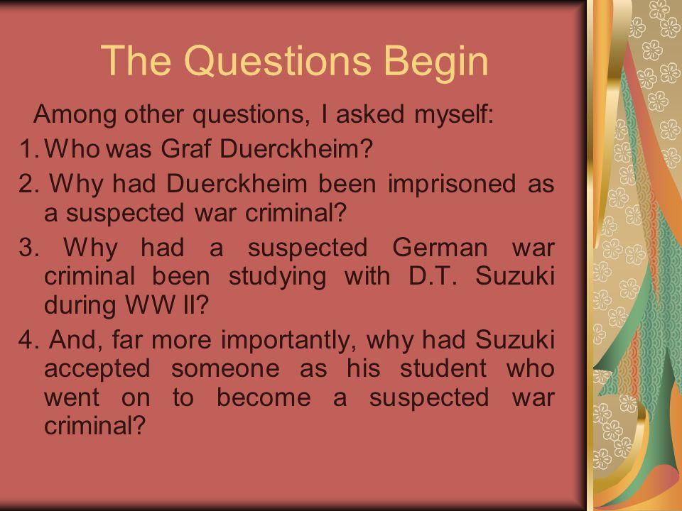 Suzuki & the Rosenkrantzes (1) In 1938-39 Gerhard Rosenkranz, accompanied by his wife Hildegard, undertook a study tour of China, Korea and Japan on behalf of the German East Asia Mission.