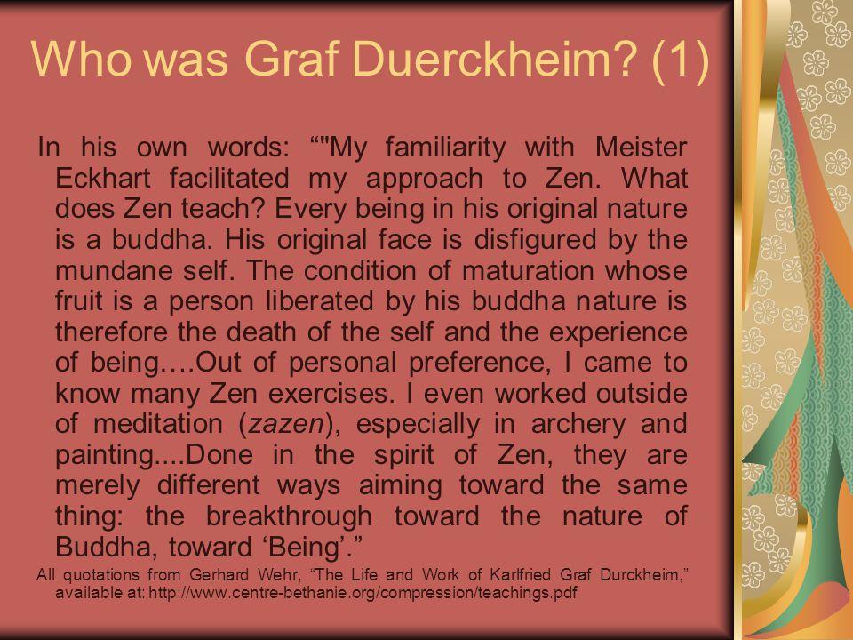 Herrigel and Suzuki Herrigel frequently referenced Suzuki, e.g.: So hat etwa D.