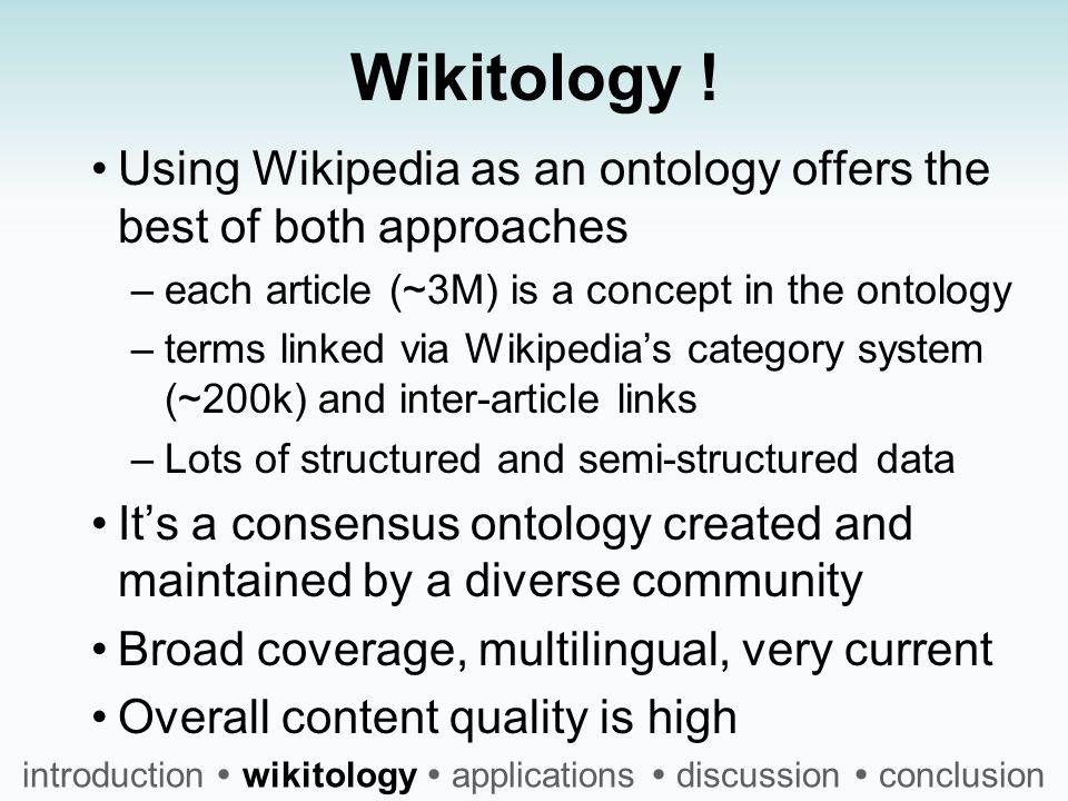 Wikitology .