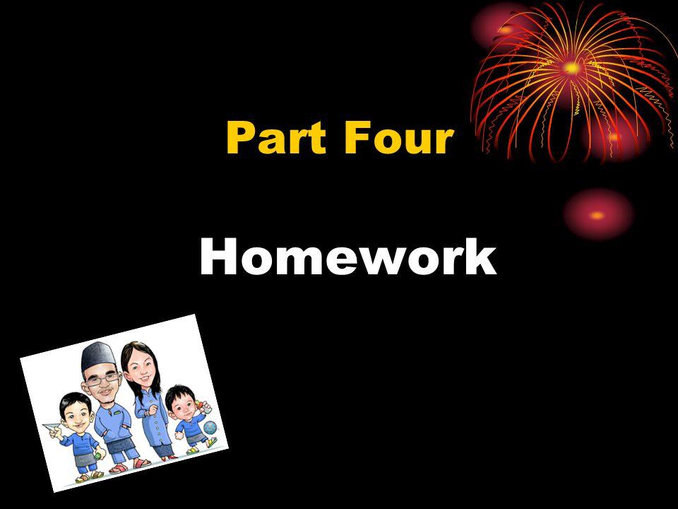 Homework Part Four