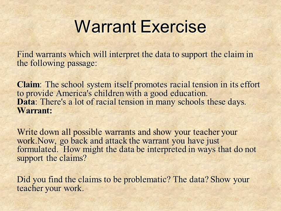 Warrant Exercise Find warrants which will interpret the data to support the claim in the following passage: Claim: The school system itself promotes r