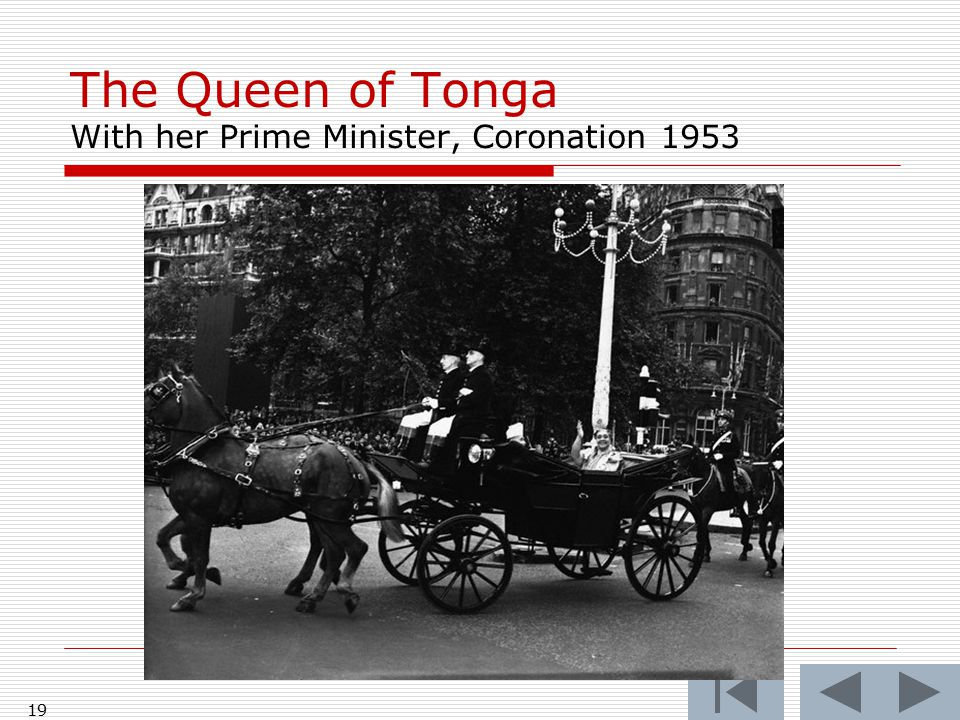The Queen of Tonga With the Queen Mother at the Coronation, 1953 18
