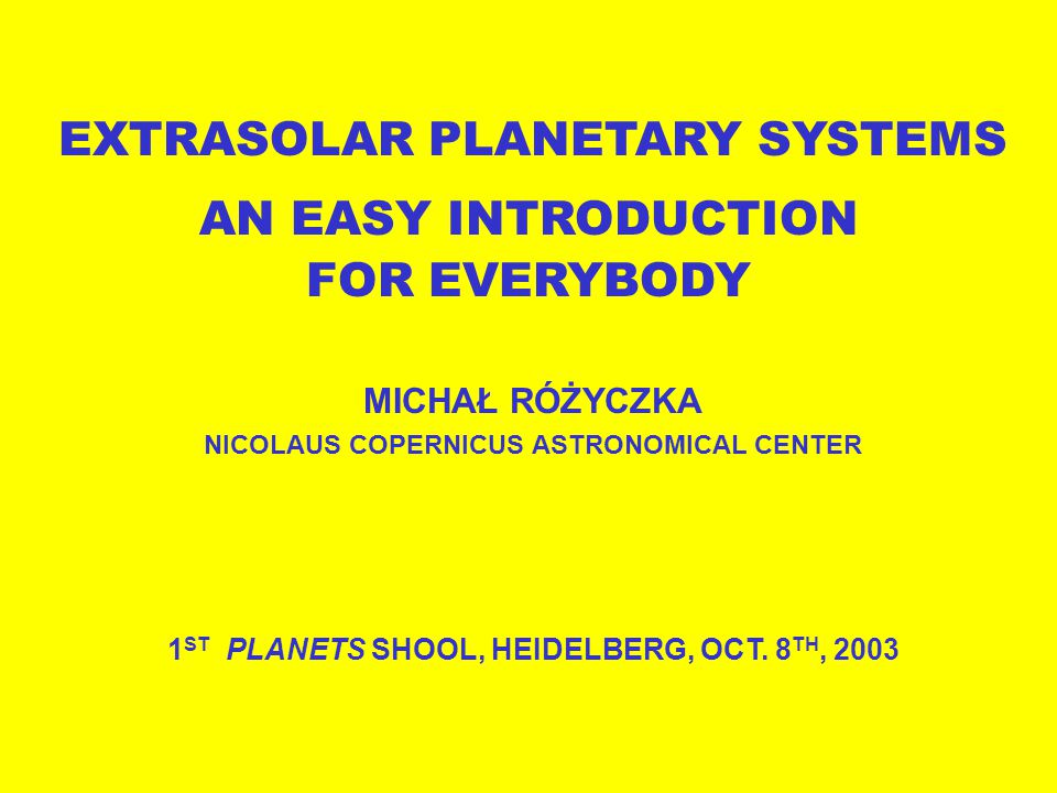 """The first discoveries Observing planet formation Detecting """"mature planets Statistics of extrasolar systems Future space missions"""