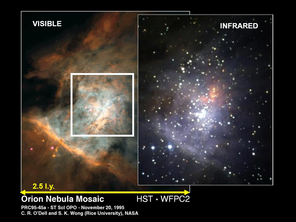 VISIBLE 2.5 l.y. INFRARED
