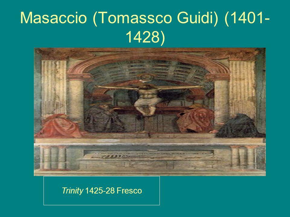 Masaccio (Tomassco Guidi) (1401- 1428) Trinity 1425-28 Fresco