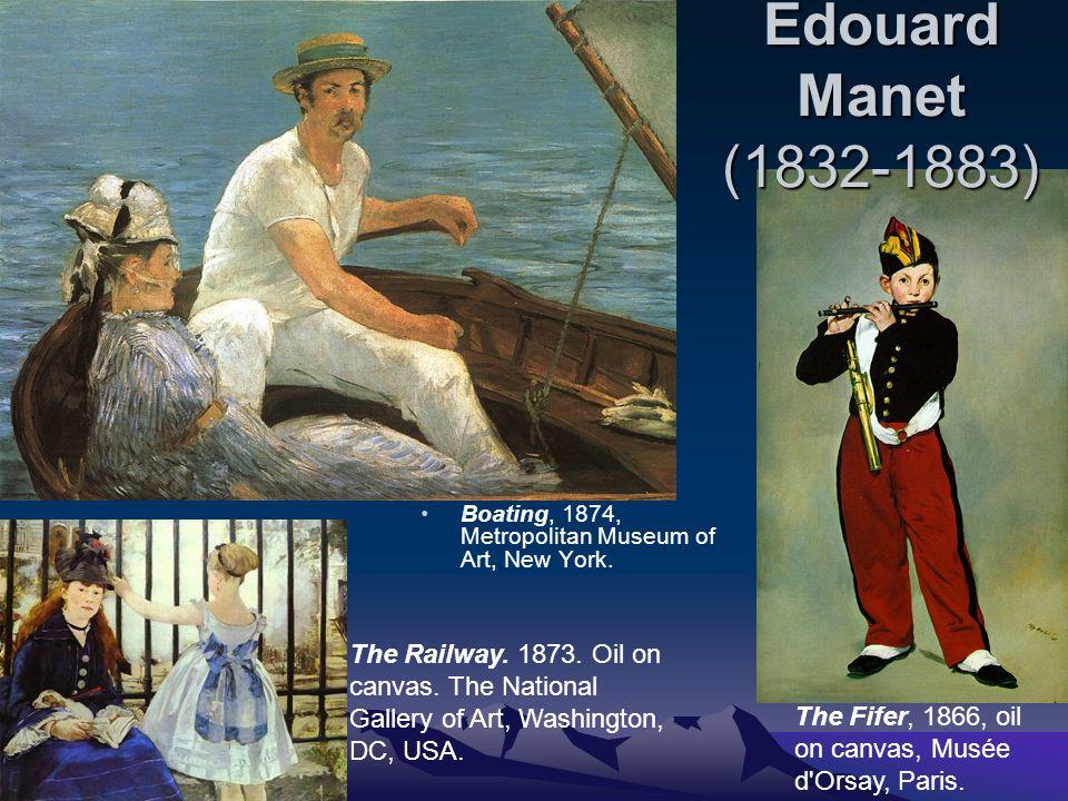 Edouard Manet (1832-1883) Boating, 1874, Metropolitan Museum of Art, New York.