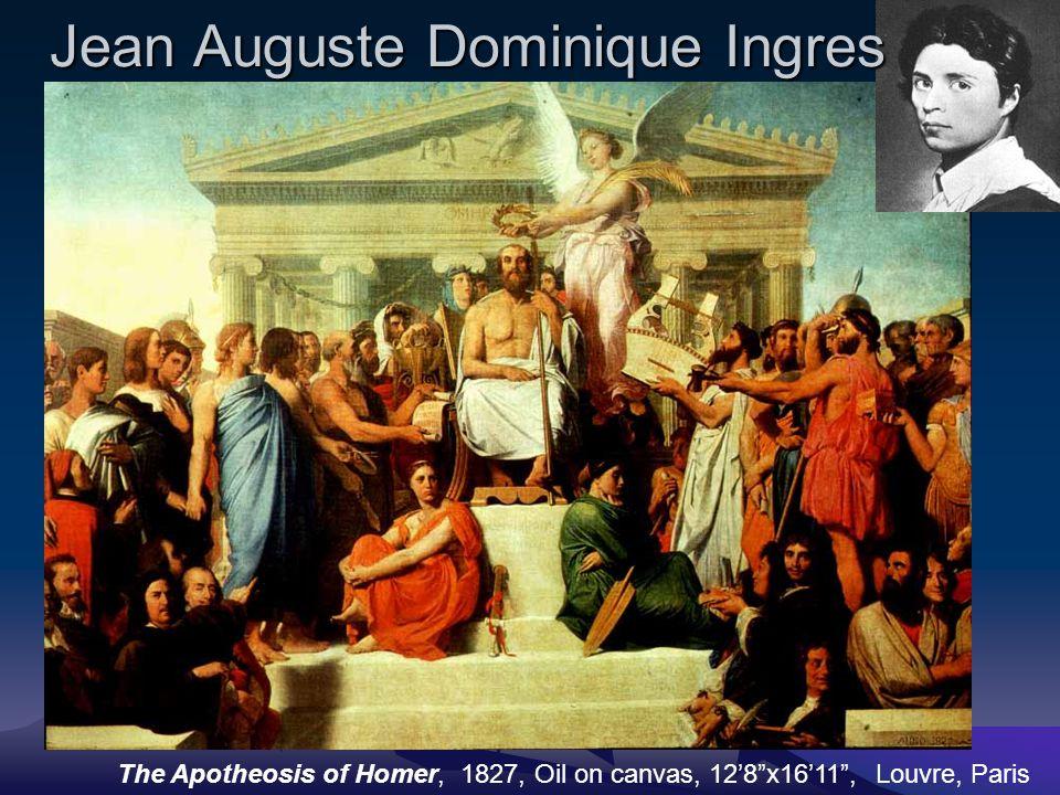 Jean Auguste Dominique Ingres The Apotheosis of Homer, 1827, Oil on canvas, 12'8 x16'11 , Louvre, Paris