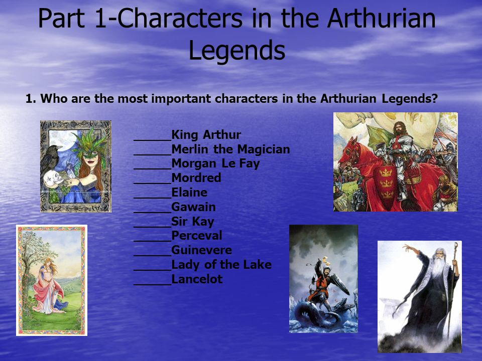 Part 1-Characters in the Arthurian Legends 1.