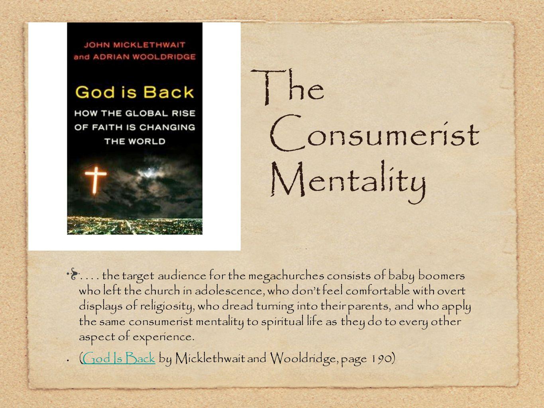 The Consumerist Mentality....