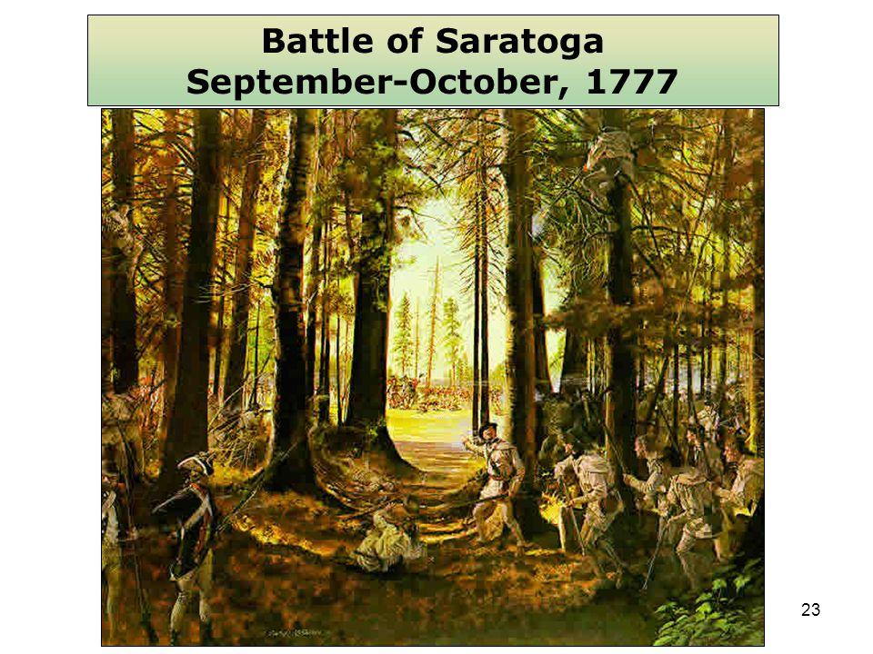 23 Battle of Saratoga September-October, 1777