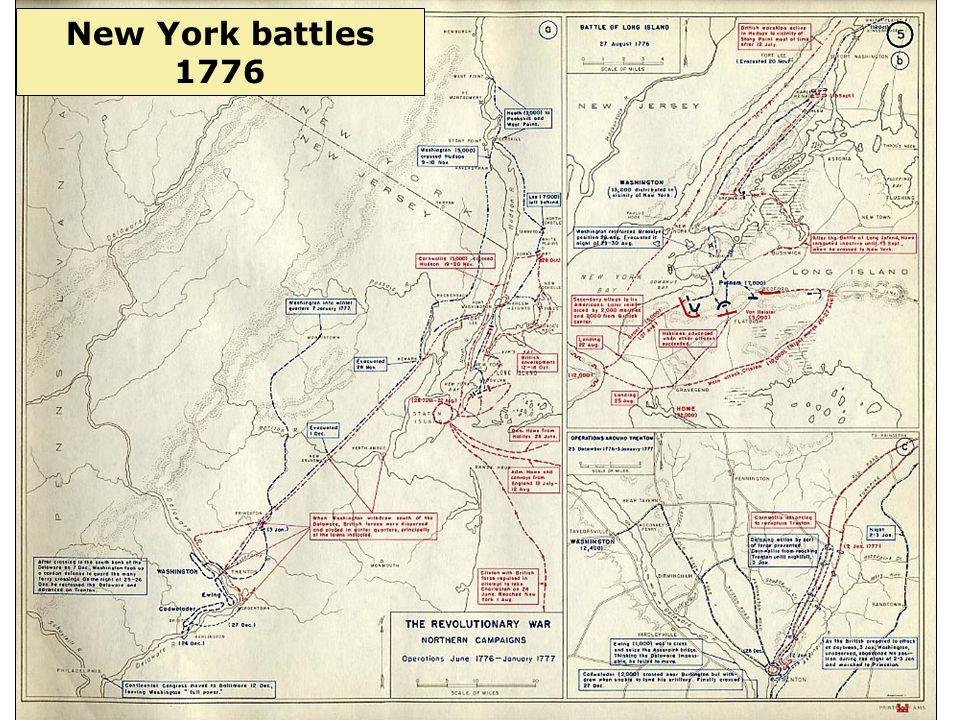 3 New York battles 1776