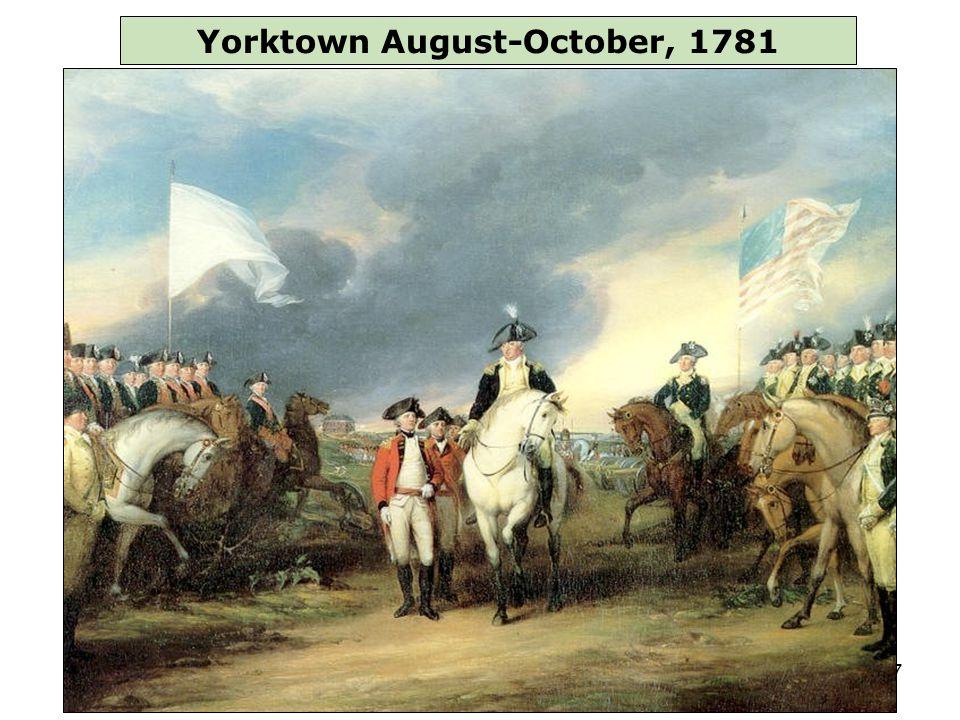 47 Yorktown August-October, 1781