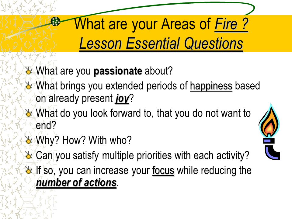 Fire .Lesson Essential Questions What are your Areas of Fire .
