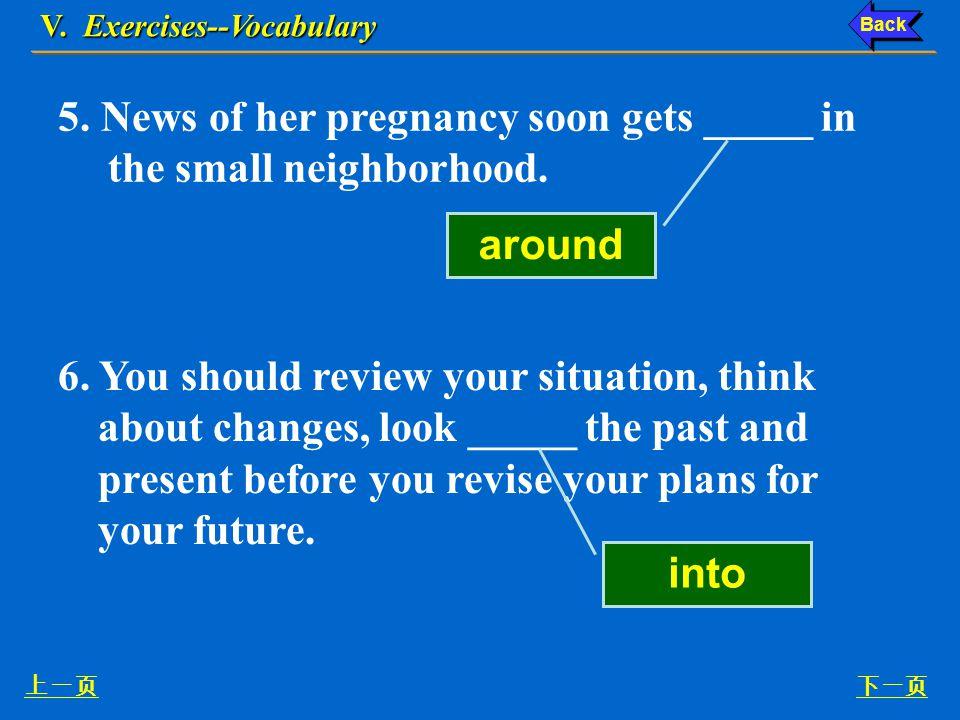 V. Exercises--Vocabulary 下一页上一页 3.