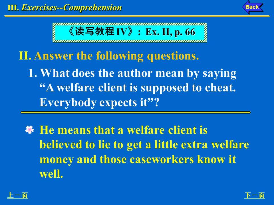 III.Exercises--Comprehension 1.