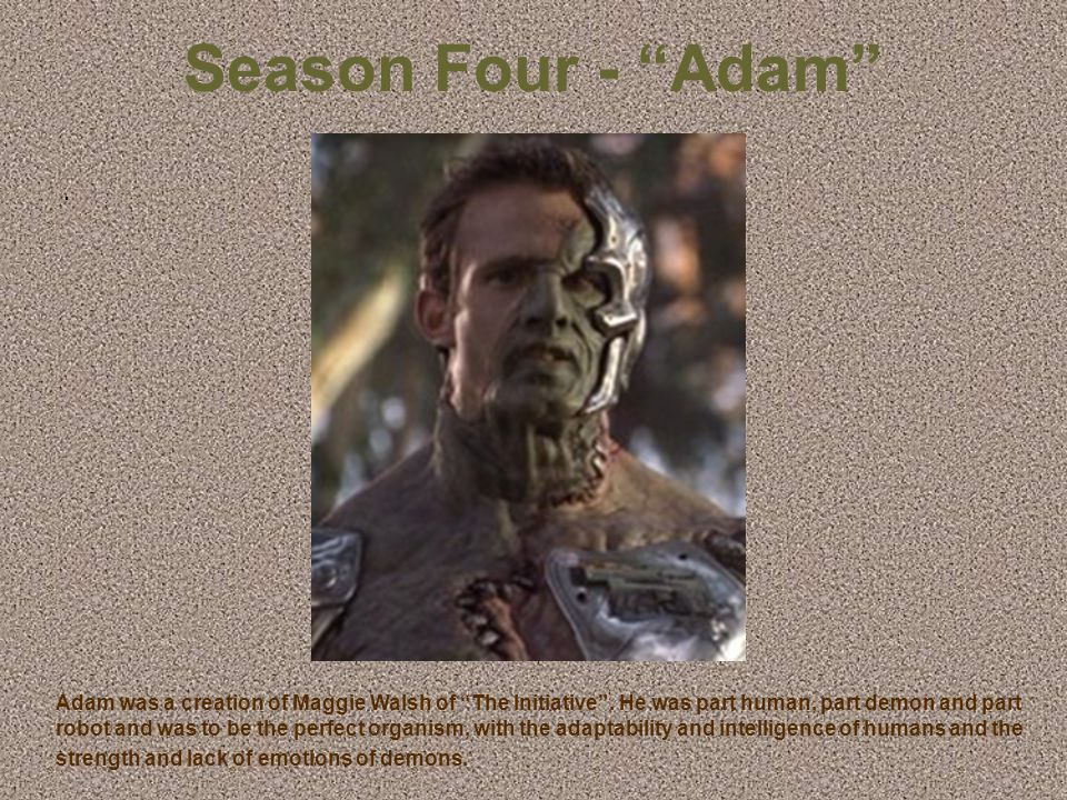 """Season Three – """"The Mayor"""". The founder and mayor of Sunnydale, CA. Made a pact in the 1800s for it to be a place for """"demons to feed on"""" on the promi"""