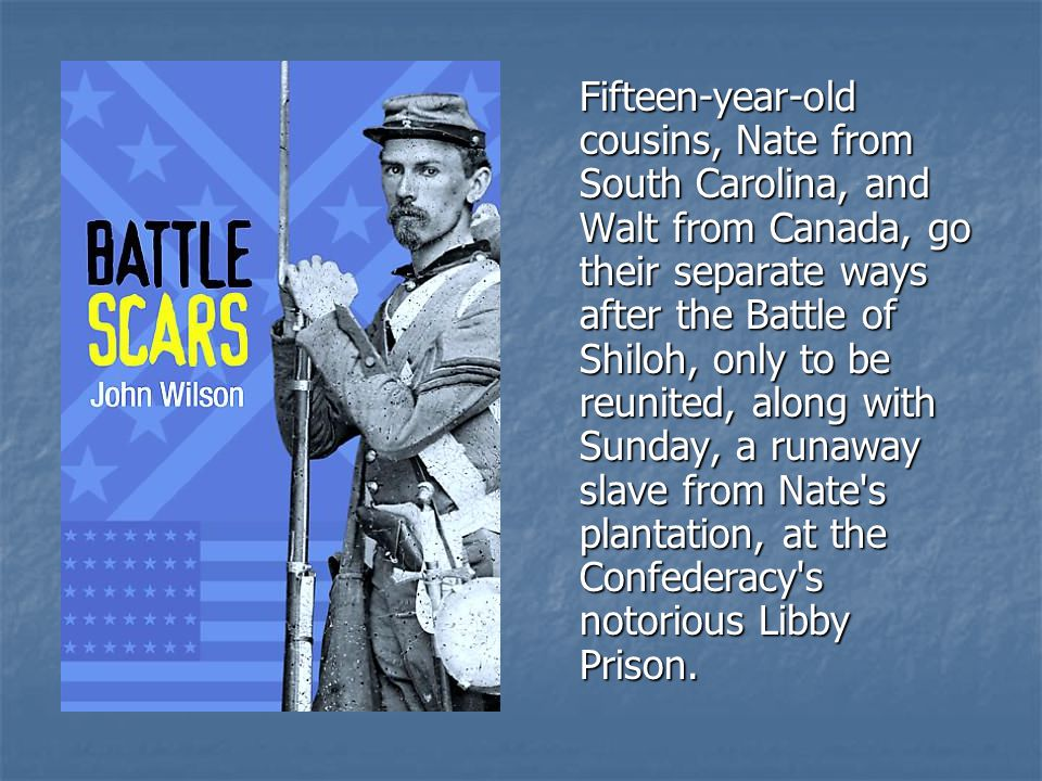 Fifteen-year-old cousins, Nate from South Carolina, and Walt from Canada, go their separate ways after the Battle of Shiloh, only to be reunited, along with Sunday, a runaway slave from Nate s plantation, at the Confederacy s notorious Libby Prison.