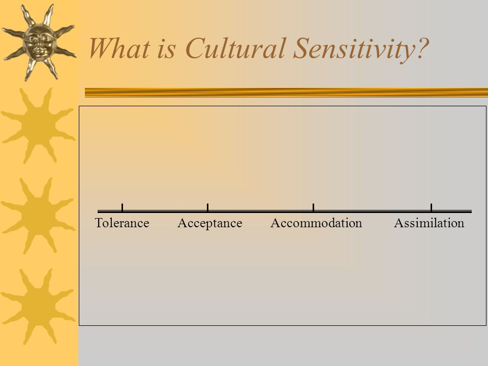 What is Cultural Sensitivity? Tolerance Acceptance Accommodation Assimilation