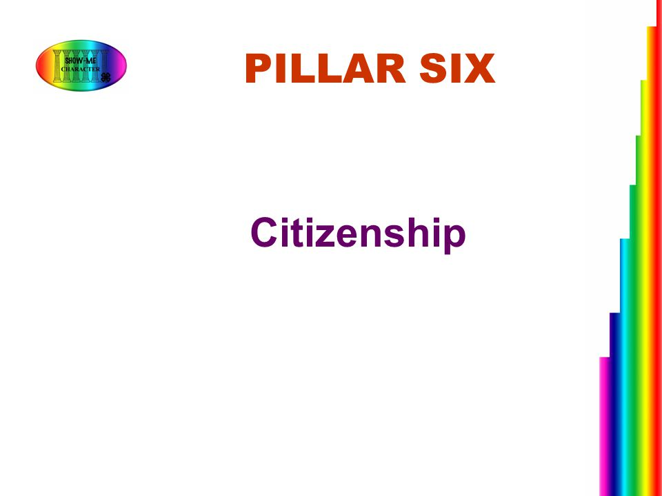 Citizenship PILLAR SIX