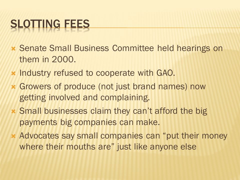  Senate Small Business Committee held hearings on them in 2000.
